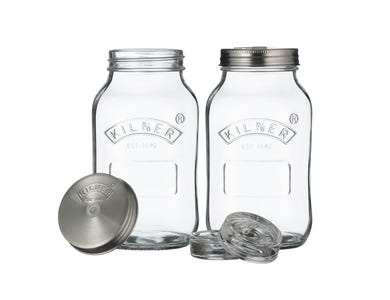 Kilner® Set of 2 Fermentation Jars 1 Litre