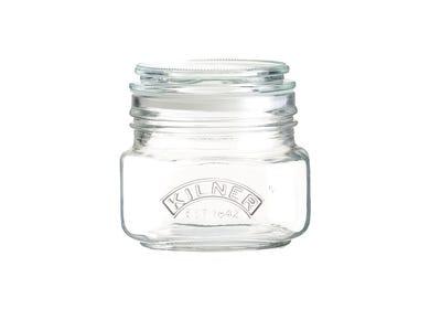 Image for Push Top Square Jar 0.5 Litre