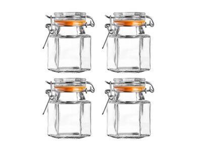 Kilner® Set of 4 Hexagonal Spice Jars