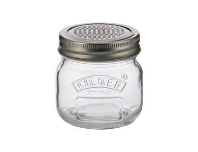 Storage Jar & Fine Grater Lid 0.25 Litre