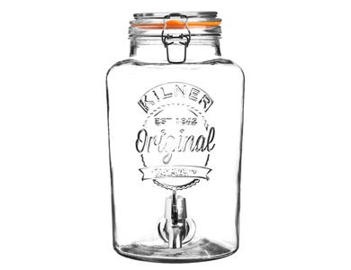 Image for Clip Top Round Drinks Dispenser 8 Litre