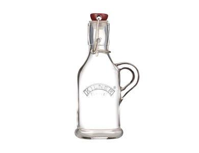 Kilner® Clip Top 0.2 Litre Glass Handled Bottle with label
