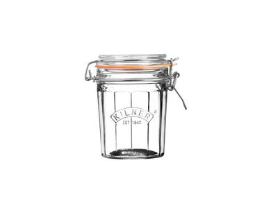 Image for Facetted Clip Top Jar 0.45 Litre