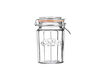 Image for Facetted Clip Top Jar 0.95 Litre