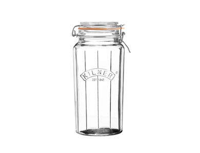 Image for Facetted Clip Top Jar 1.8 Litre