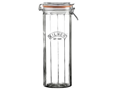 Image for Facetted Clip Top Jar 2.2 Litre