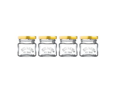 Set Of 4 Mini Jars 55ml
