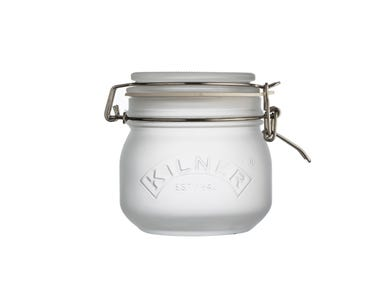 Image for White Frosted Clip Top Jar 0.5 Litre
