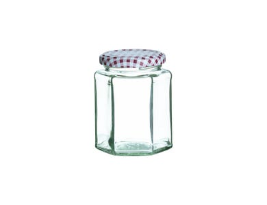 Image for Red Hexagonal Twist Top Jar 280ml