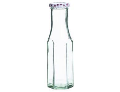 Image for Red Hexagonal Twist Top Bottle 250ml