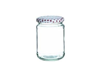 Image for Red Round Twist Top Jar 370ml