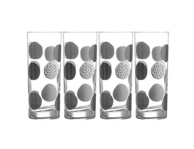 Image for Monochrome Spots Set Of 4 Tumblers 34cl