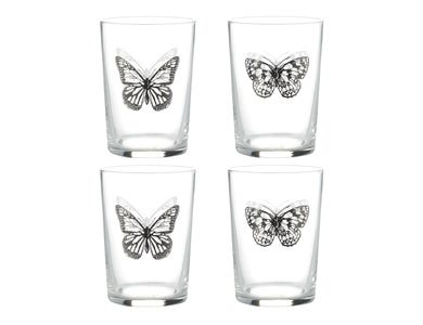 Ravenhead Butterfly set of 4 Tumblers 52cl