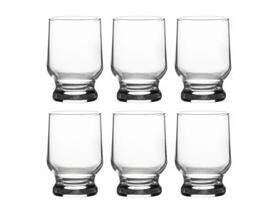 Essentials Set 6 Footed Hiball Glasses 26cl