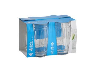 Essentials Circle 4 Hiball Glasses 47.5cl