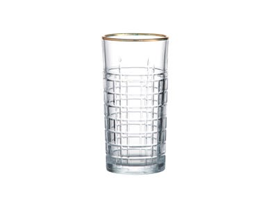 Regency Gold Set Of 2 Hiball Glasses  36cl