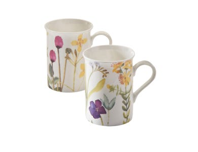 Image for Bloom Assorted Bone China Mugs