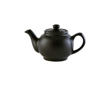 Image for Matt Black 2cup Teapot