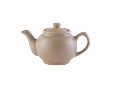 Image for Matt Taupe 6cup Teapot