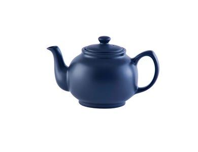 Image for Matt Navy Blue 6cup Teapot