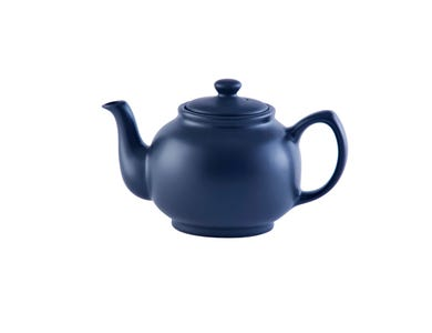 Image for Matt Navy Blue 6cup Teapot
