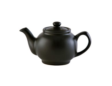 Image for Matt Black 6cup Teapot