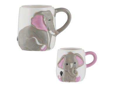 Elephant Set Of 2 Mugs
