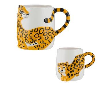 Cheetah Set Of 2 Mugs