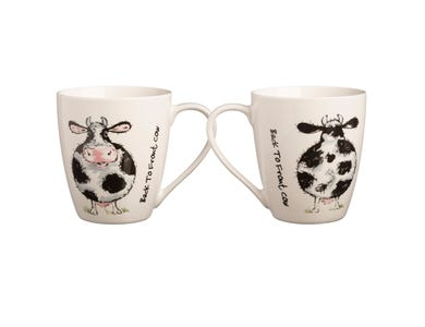 Image for Back To Front Cow Fine China Mug