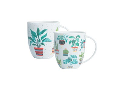 Image for Plants Assorted  Bone China Mugs