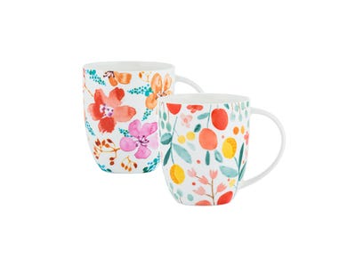 Image for Fruit And Flora  Assorted Bone China Mugs