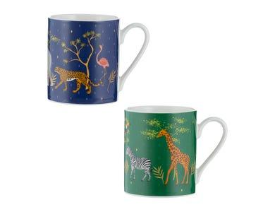 Safari Assorted Fine China Mugs