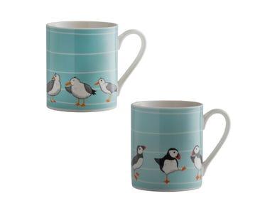 Sea Birds Assorted Fine China Mugs
