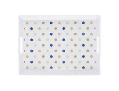 Image for Padstow Blue Handled Tray 38x28cm