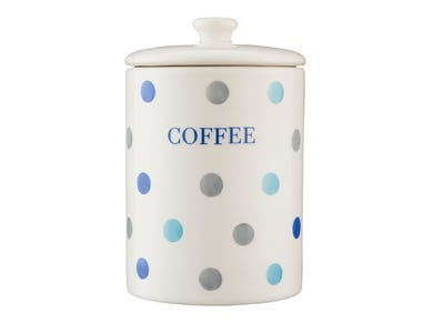 Image for Padstow Blue Coffee Storage Jar