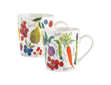 Image for Farmers Market Assorted Fine China Mugs