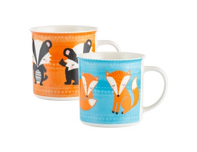 Image for Woodland Animals Assorted Fine China Mugs