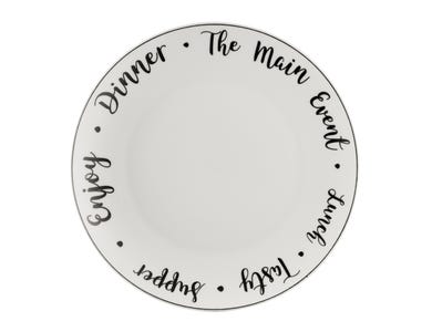 Image for Carnaby Script Dinner Plate 26.5cm