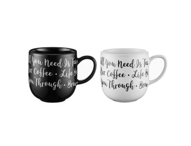 Image for Carnaby Script Hug Mug Assorted