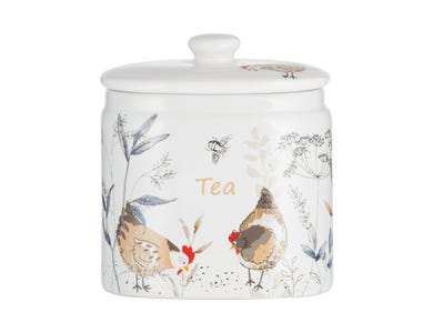 Country Hens Tea Storage Jar