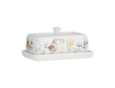 Country Hens Butter Dish