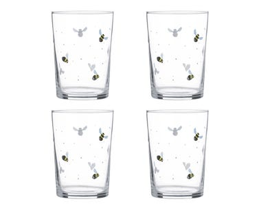 Sweet Bee Set Of 4 Tumblers 52cl