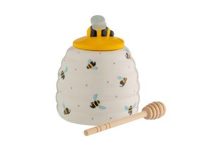 Sweet Bee Honey Pot & Drizzler Gift Box