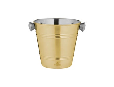 Barware 1l Gold Single Wall Ice Bucket