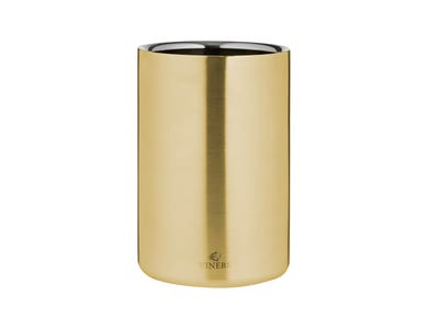 Barware 1.3l Gold Double Walled Wine Cooler