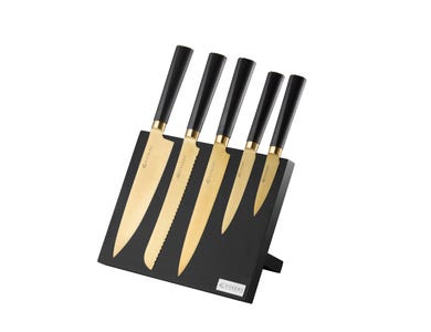 Image for Titan Gold 6 Pce Knife Block Giftbox