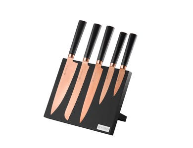 Image for Titan Copper 6 Pce Knife Block Giftbox
