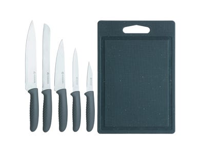 Image for Speckle 5 Pce Knife Set With Chopping Board