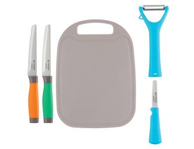 Assure Colour Code Knife, Peeler & Board Set