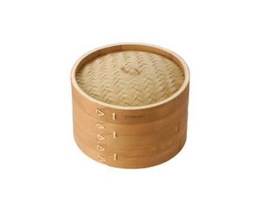 """Image for Double Tier Bamboo Steamer 8"""""""